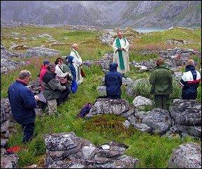 Gudstjeneste i Galten i 2002