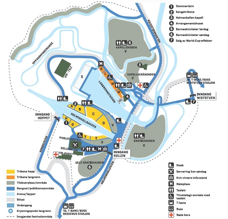 kart over holmenkollen Informasjon til funksjonshemmede   Ski VM 2011 AS kart over holmenkollen