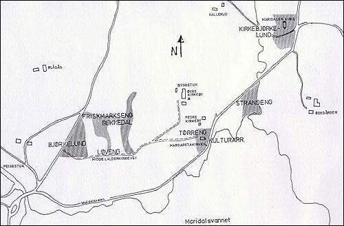 Kart slåttemark Maridalen