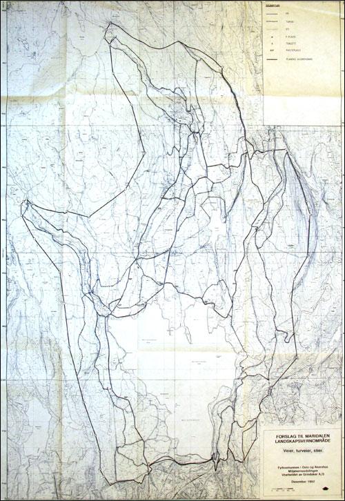 Tur- og ferdselsveikart Maridalen fra 1992