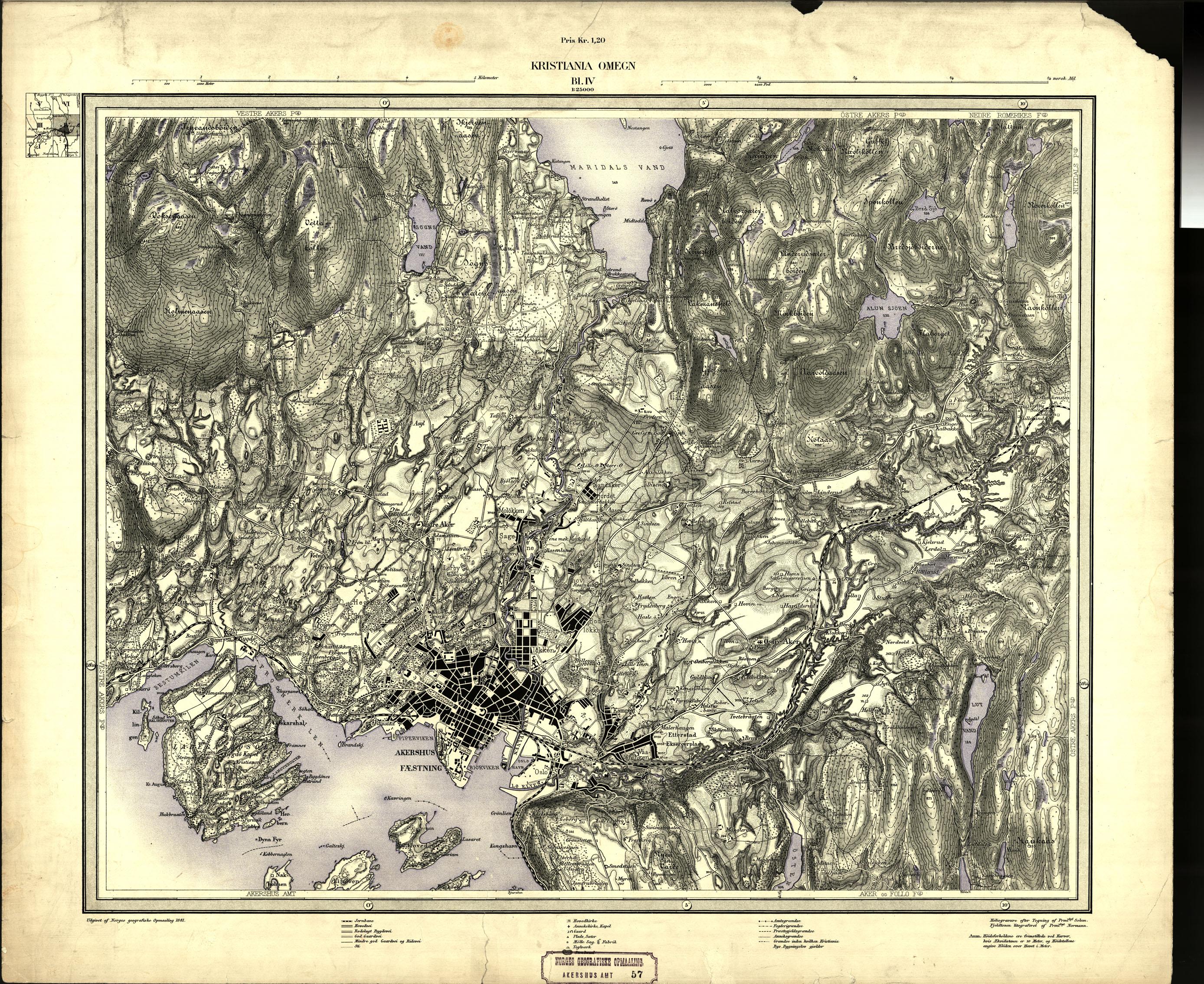 1881 kart norge Maridalens Venner : Kart fra 1881 og 1887 fra Norges Geografiske  1881 kart norge