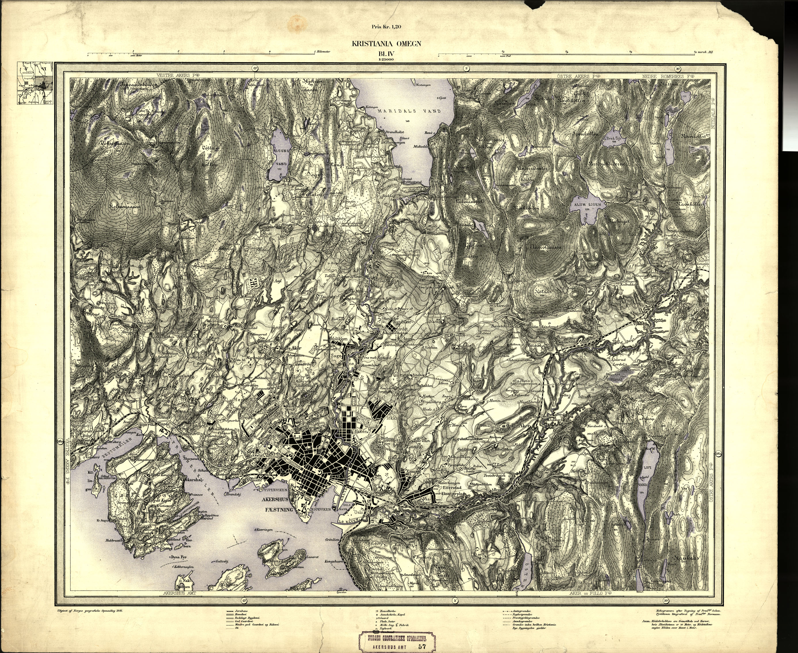 www 1881 kart Maridalens Venner : Kart fra 1881 og 1887 fra Norges Geografiske  www 1881 kart