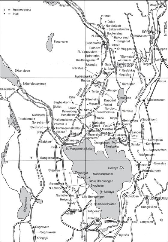 kart over maridalen Maridalens Venner : Kart over plasser og gårder i Maridalen kart over maridalen