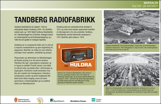 Tandberg radiofabrikk. Byantikvaren.