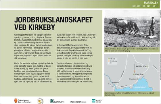 Jordbrukslandskapet ved Kirkeby. Byantikvaren.