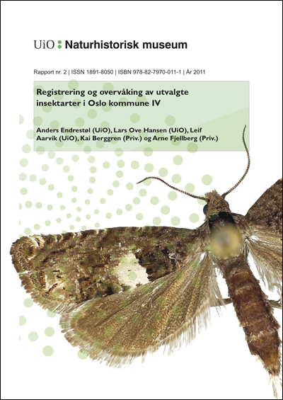 Insektrapport 2011. Forside.
