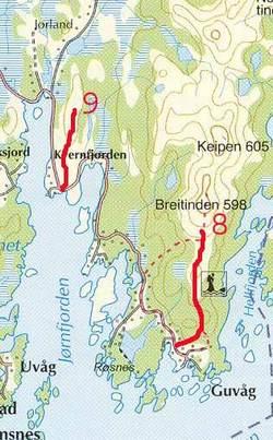 Ruteforslag for Breitindhalsen og Skorpa