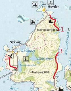 Turløype til Røsshagan, Bufjellet og Selvågen
