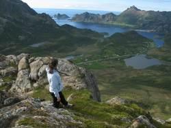 Utsikt fra Skredtinden. Foto: Anne-Lise W. Robertsen