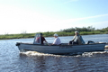 Small boat on Dvina