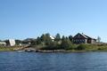 Village on the banks of Dvina