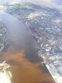 Dirty Dvina river