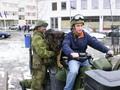 Border guard and civilian