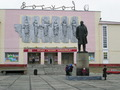 Lenin in front of cultural house in Nikel