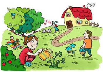Illustrasjon - hverdagsmatte