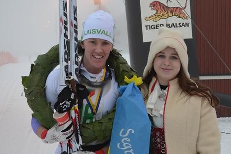 Susanne Nyström segrade i Norrbärke Ski Marathon som genomfördes i Grönklitt. FOTO: Johan Trygg.