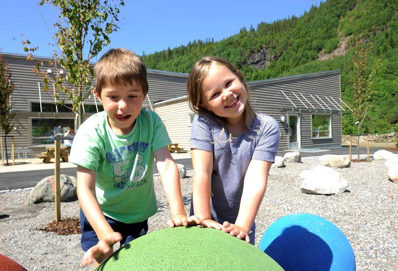 Bilete av born i Vaksdal barnehage