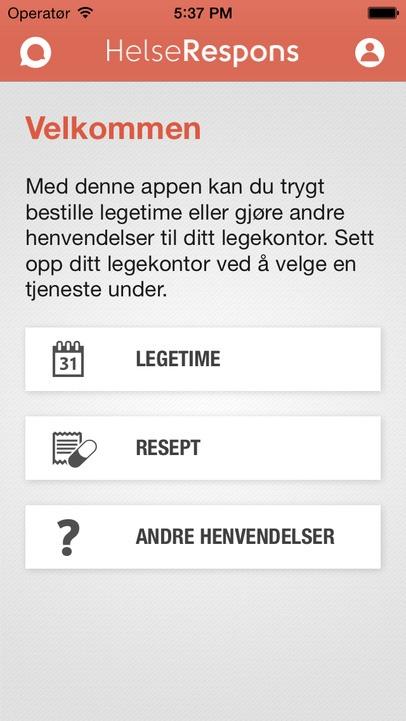 Helserespons app