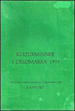 Kulturminner i Oslomarka