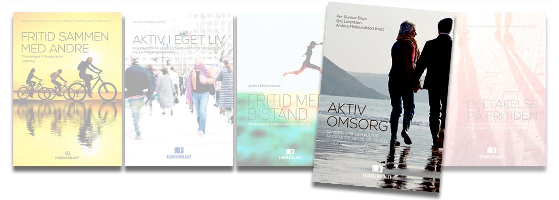 Bilde av omslag i bokserien, fremhevet Aktiv omsorg