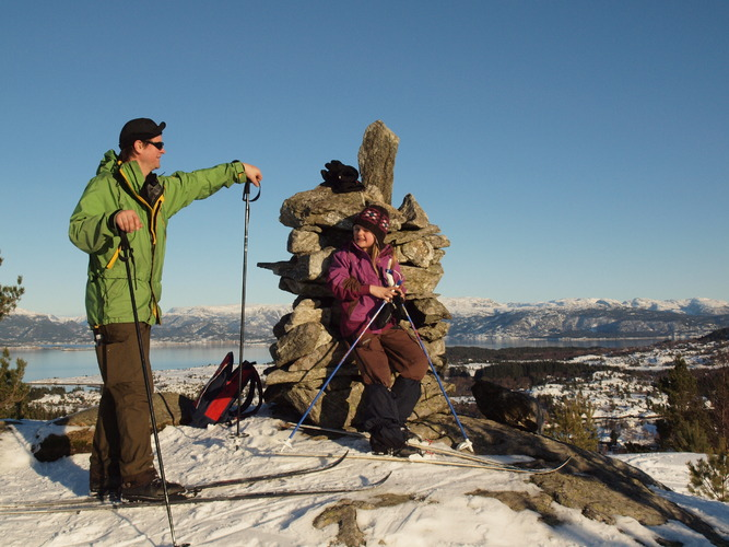 Bente Semmingsen Fivelsdal_skitur Lauvåsvarden
