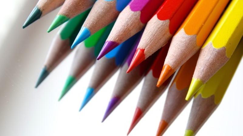 Illustrasjon fargeblyanter