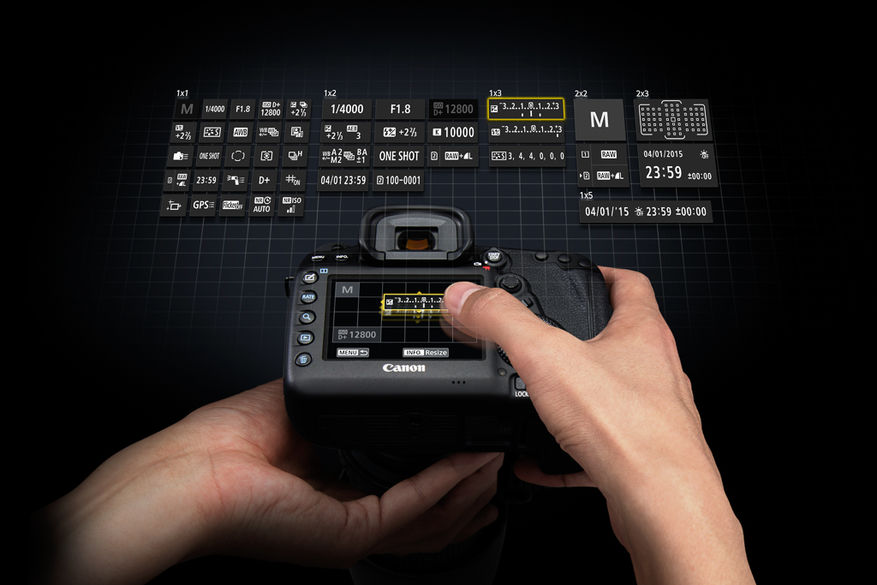 EOS 5D MkIV English Custom Quick Control life style