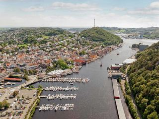 Egersund havn og sentrum