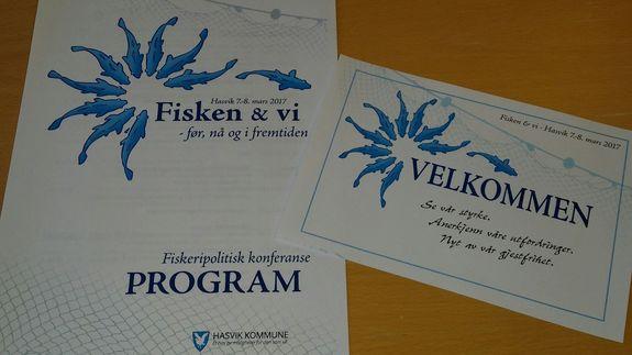Bilde av program og velkomst