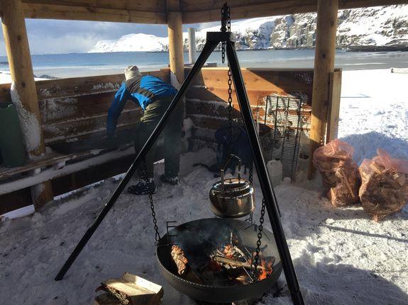 Grilling i Sandvika 01.04.17