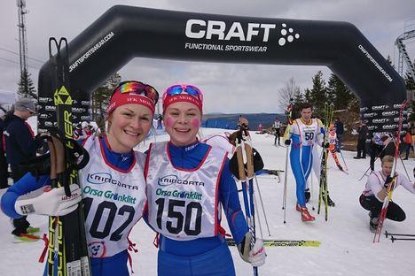 IFK Moras Helene Söderlund och Hanna Eriksson var etta och tvåa på Grönklitt Hill Climb. FOTO: Maria Gustafsson.