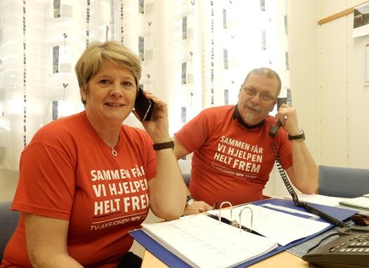 Turid Willumstad og Lars Evjenth ringer til bedrifter