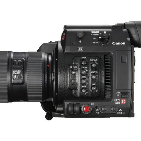 Canon EOS C200 har inntil 15 trinn dynamisk område og henvender seg til videoreportere som også må jobbe alene.