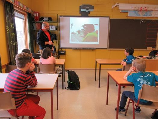 Klassesituasjon med Newtonlærer Bjørnar Pettersen