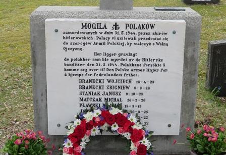 Polsk minnestøtte på Helland