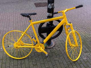 Sykkel i gågata