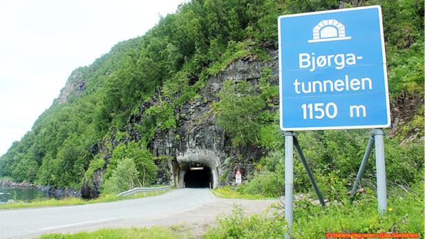 bjørgatunnellen - vegvesenet - bruk ved stenging av bjørga - krediter vegvesen og lisa sundstrøm