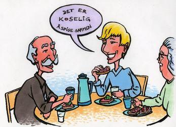 Det er koselig å spise sammen
