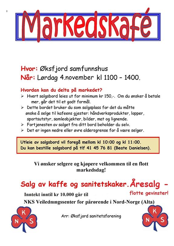 Markedskafè i Øksfjord 041117