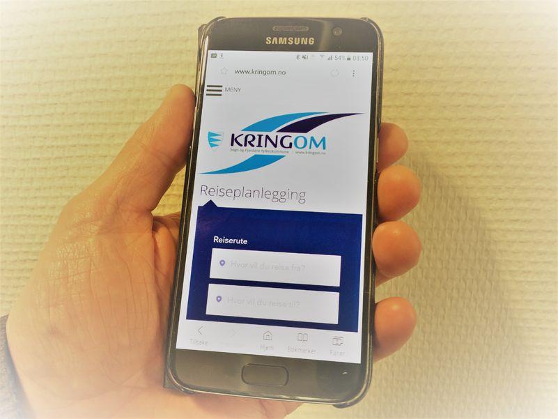 Kringom på mobil