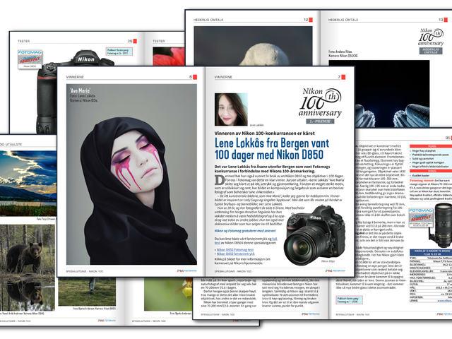 Se vinnerbildene, bildene som fikk hederlig omtale og alle de andre 100 utvalgte bildene fra fotokonkurransen i forbindelse med Nikons 100 år. Spesialutgaven inneholder 100 sider smekkfulle av stoff for alle Nikon-interesserte - tester, fotografer og artikler.