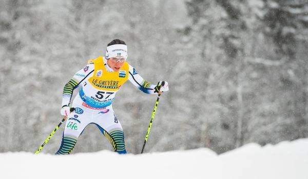 Charlotte Kalla krigade sig till en andraplats i fristilsloppet i Beitostölen efter suveränen Therese Johaug. FOTO: Jon Olav Nesvold/Bildbyrån.