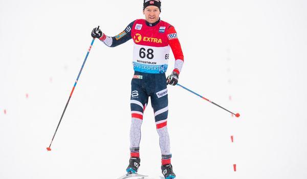 Sjur Röthe tog en suverän seger på tremilen i Beitostölen. FOTO: Jon Olav Nesvold/Bildbyrån.