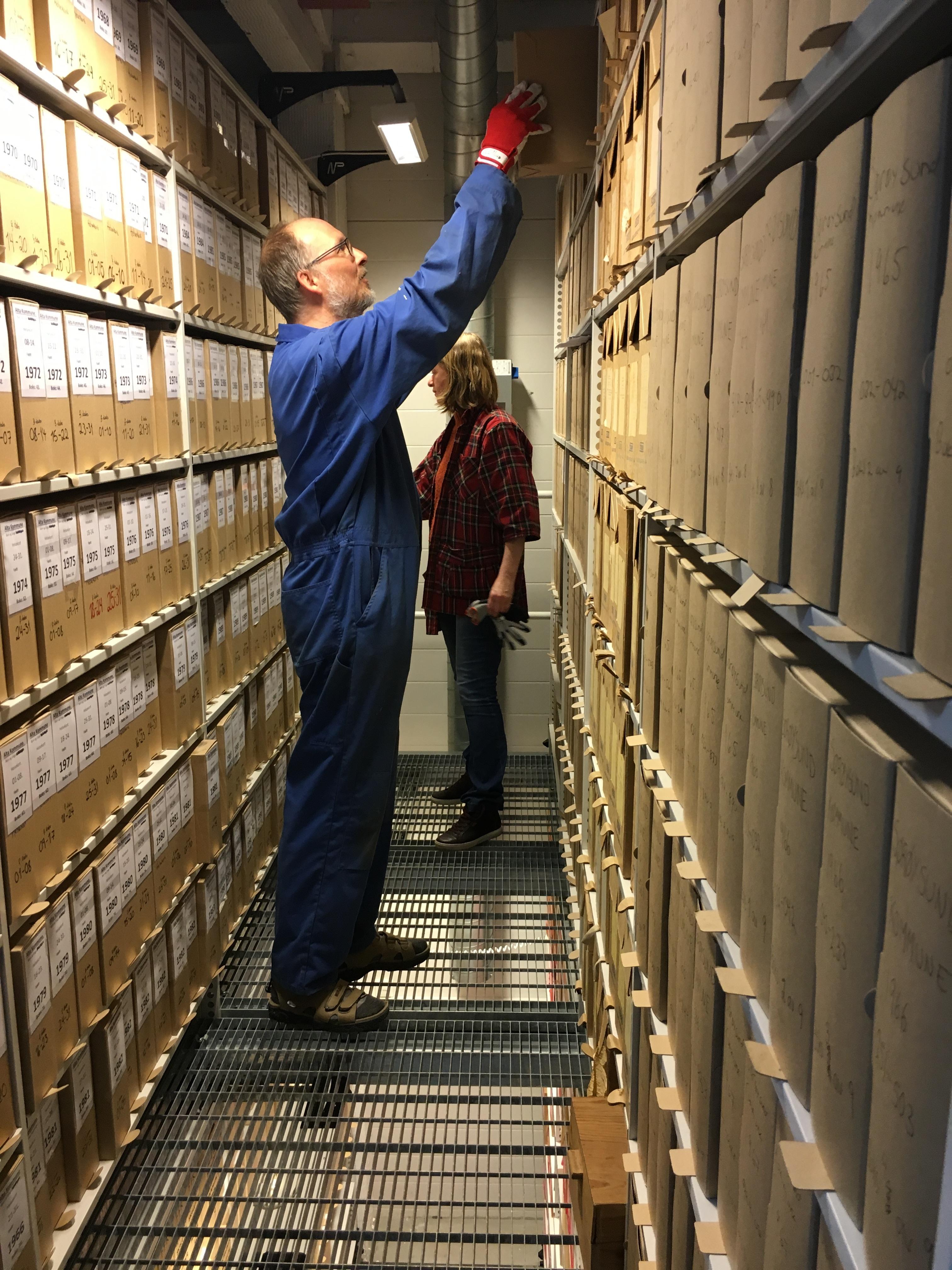 Arkiv inn i depot