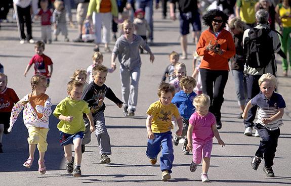 Maraton for både store og små