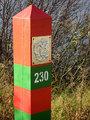 Russian border mark