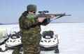 Russian Border Commissioner testing Norwegian AG3