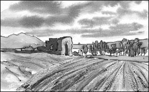 Kirkeruinen ved Kirkeby; Frances Dodman