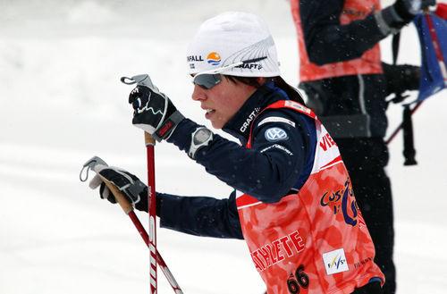 CHARLOTTE KALLA imponerade vid landslagets privata testtävling i Kiruna. Foto: KJELL-ERIK KRISTIANSEN