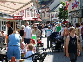 Egersund sentrum, gågata